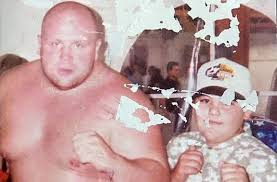Eric Butterbean with Young Andy Ruiz Jr.