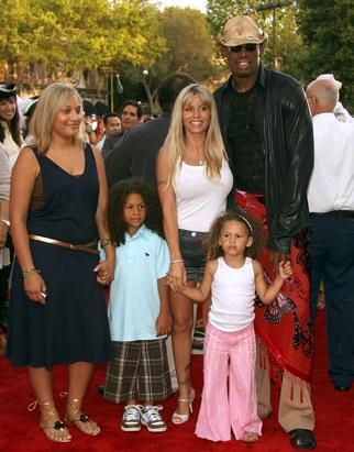 Dennis Rodman with his family