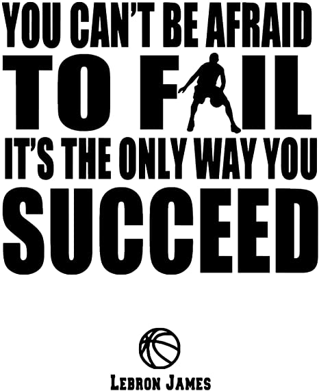 LeBron James quote on Interrelationship between failure and success