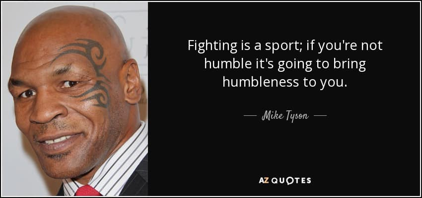 Mike Tyson quote on sport