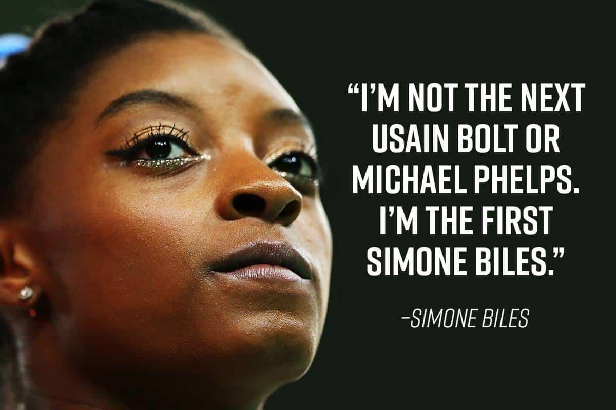 Simone Biles quote on herself