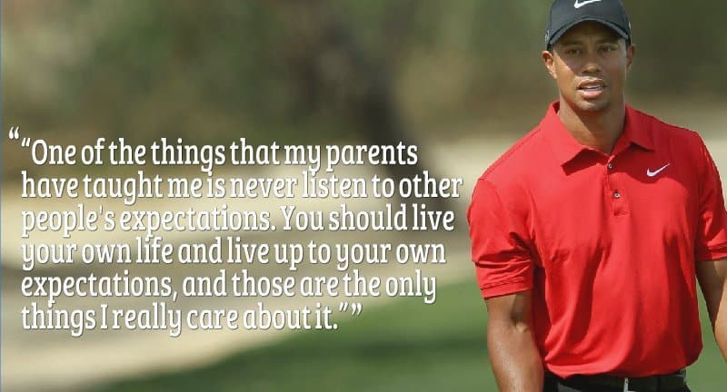 Tiger Wood quote on life