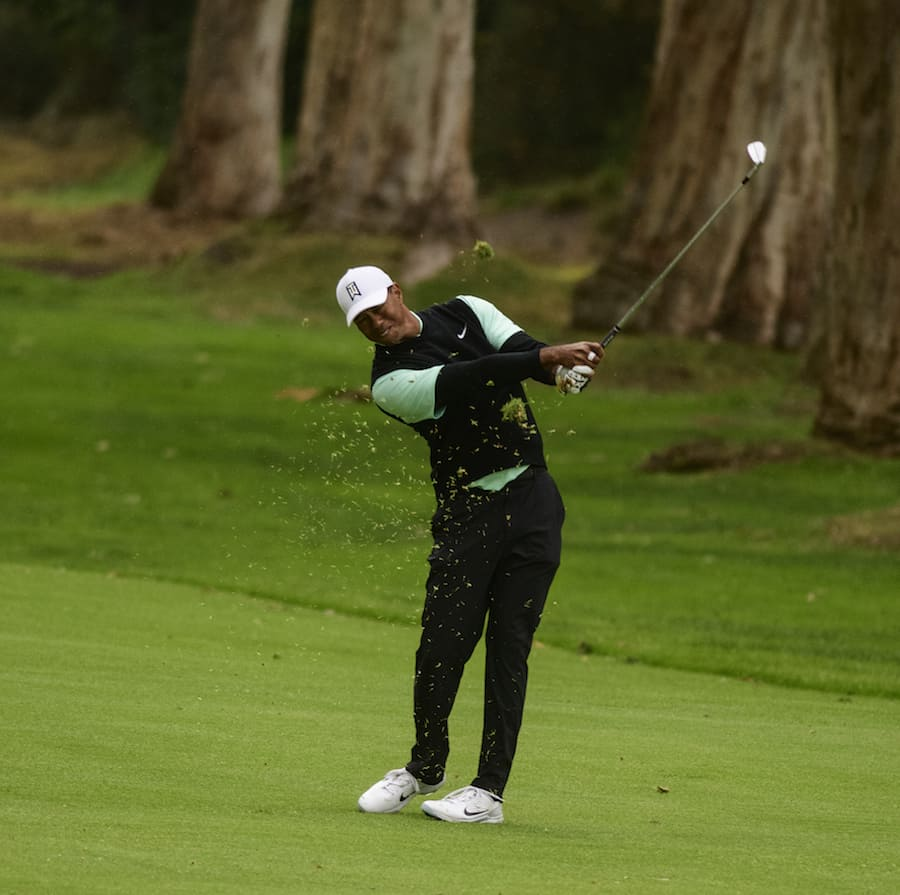 Tiger Woods practicing images