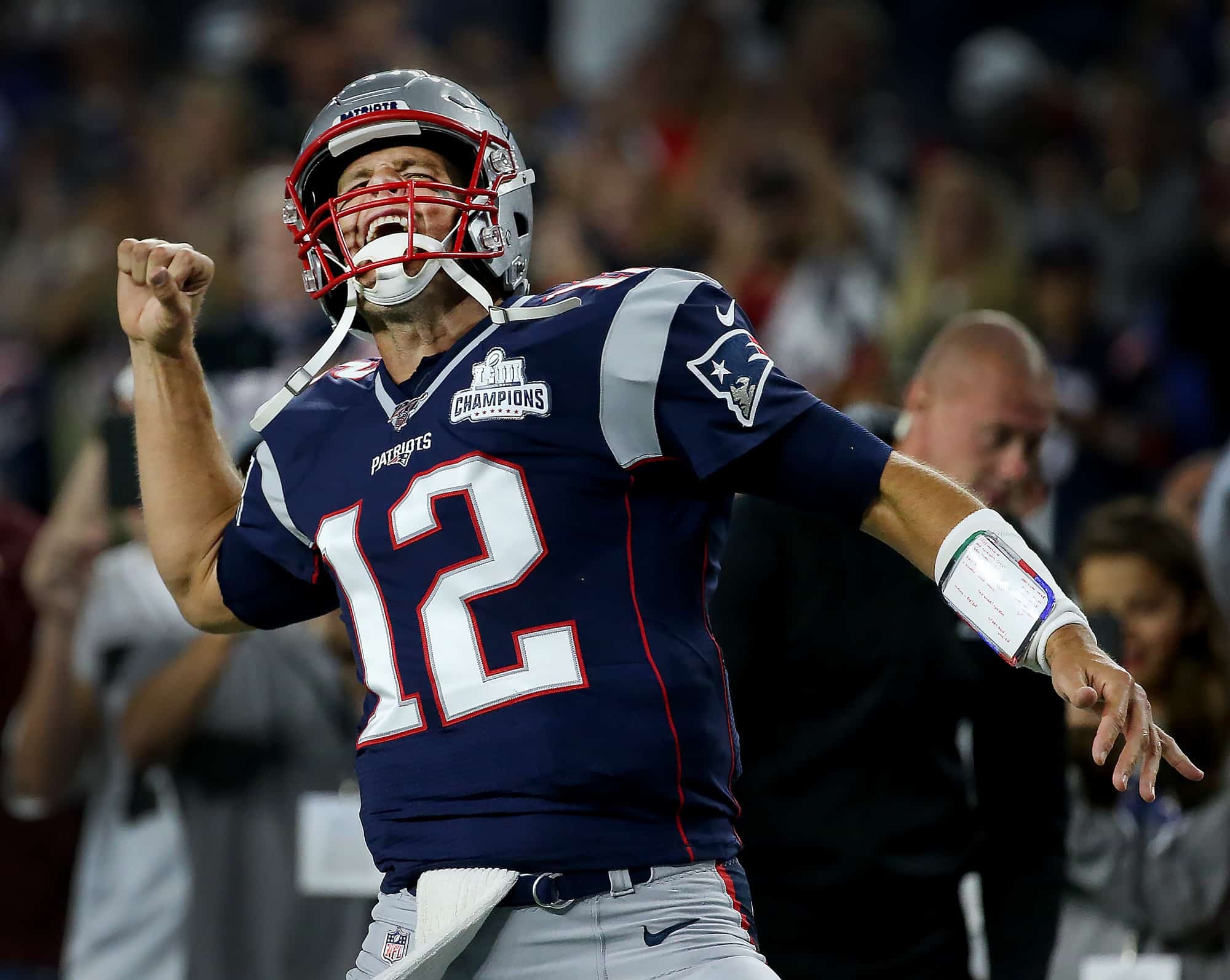 Tom Brady cheering on success