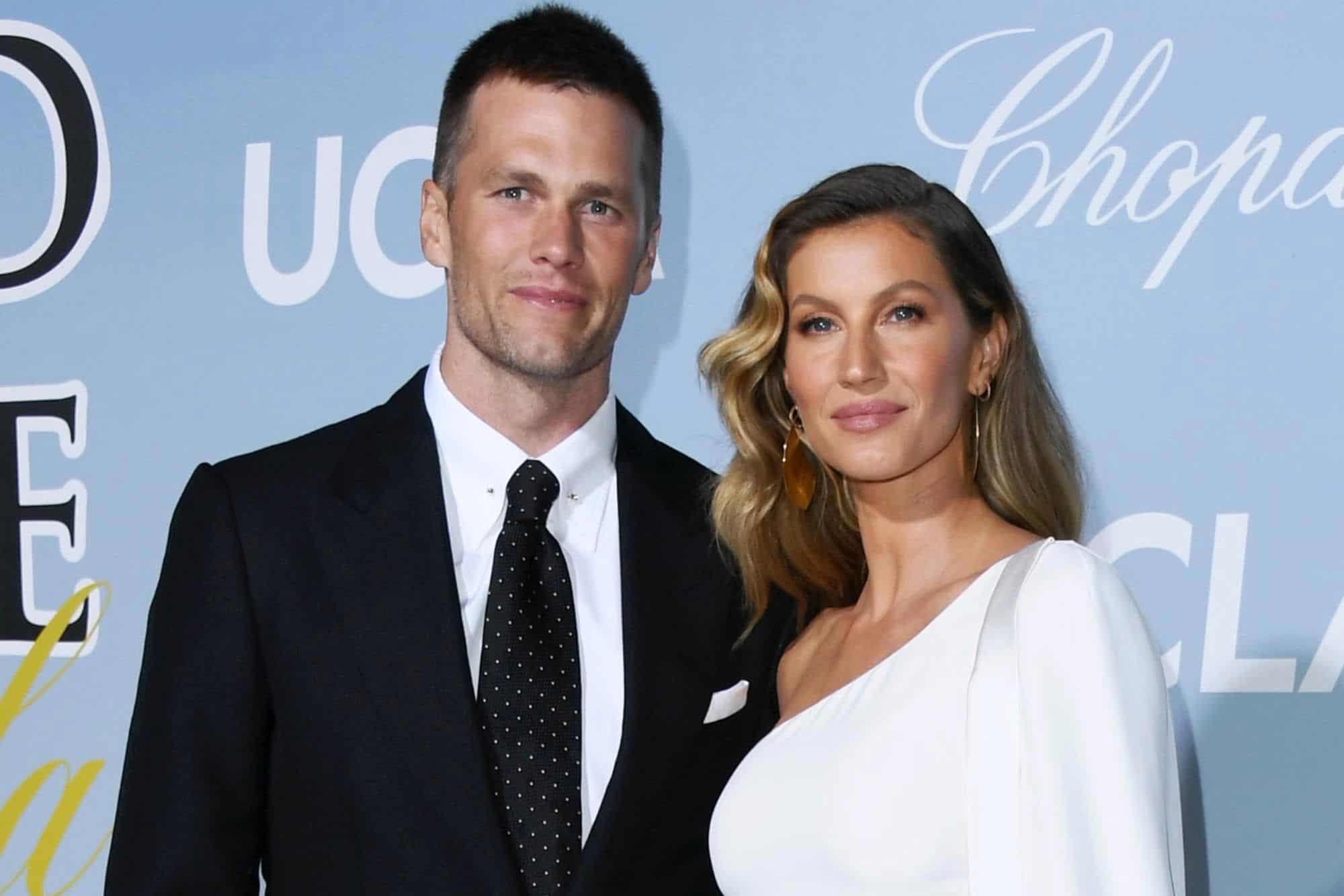 Tom Brady with his wife Gisele Bundchen