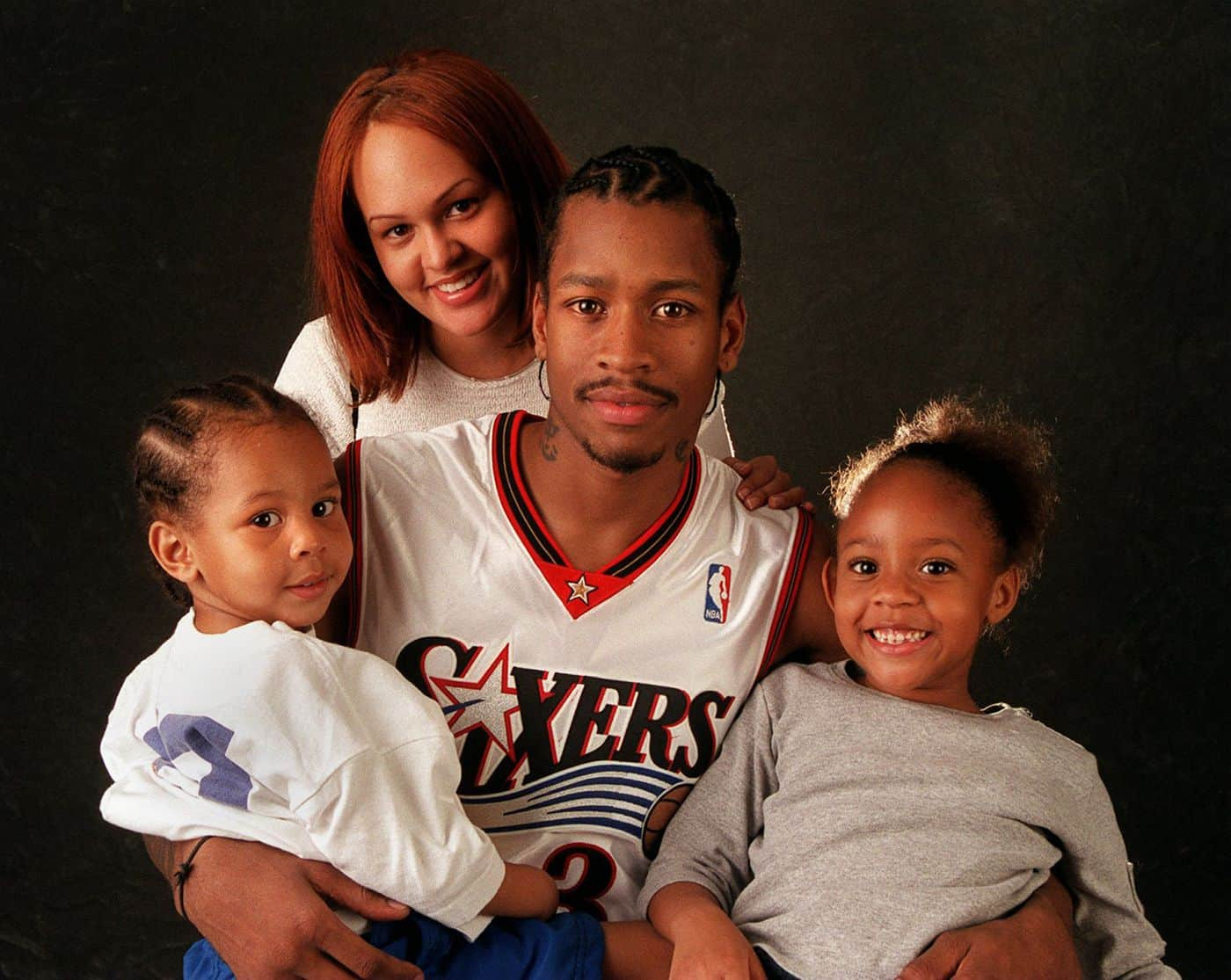 Allen Iverson with his family