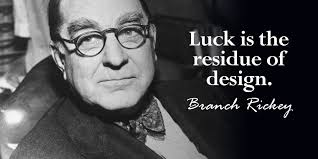 Branch Rickey quote on Luck