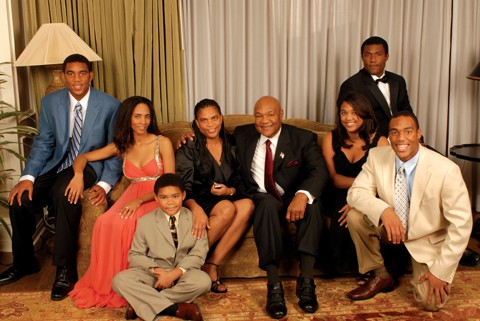 George Foreman with his family