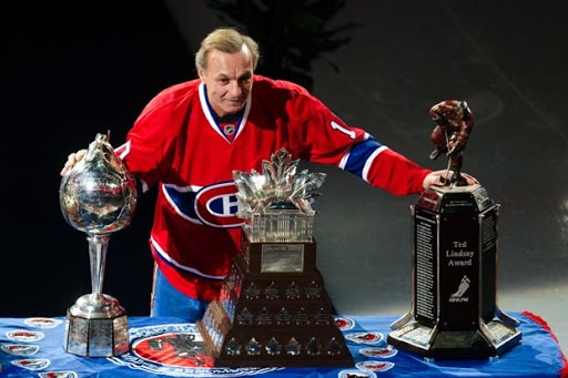 Guy Lafleur with his precious awards