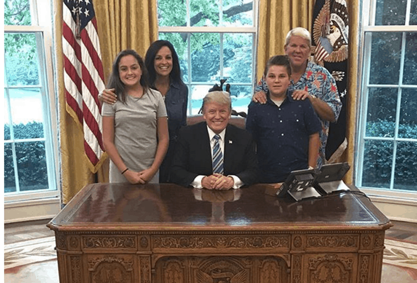 John Daly in white house