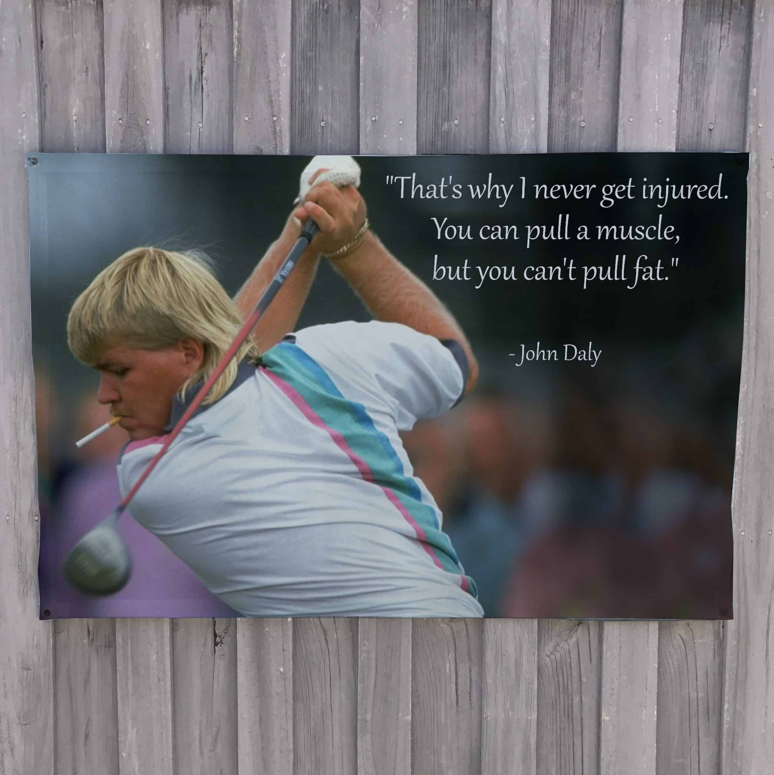 John Daly quote on secret of victory