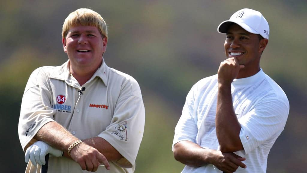John Daly with Tiger Woods