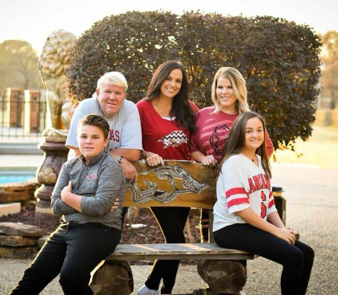 John Daly with his family