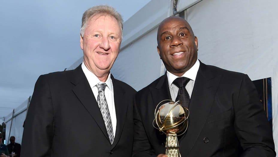 Magic Johnson and Larry Bird on NBA Award