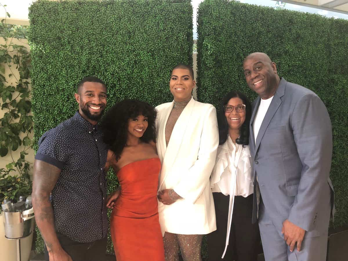 Magic Johnson with his family