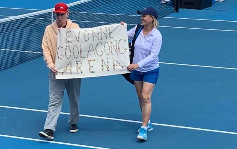 Martina Navratilova on Protest at the Australian Open