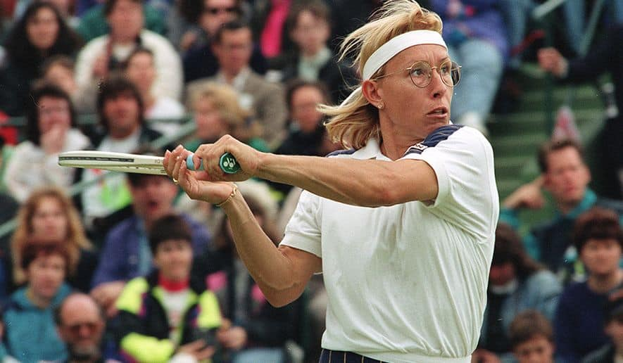 Martina Navratilova on field