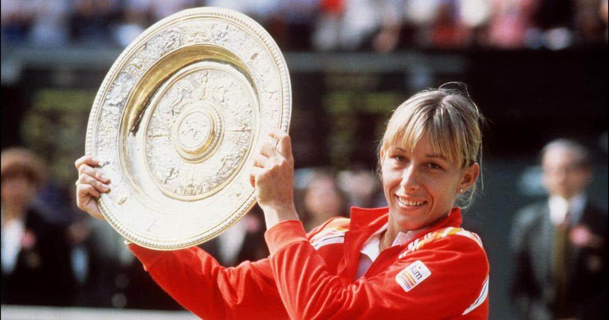Martina Navratilova, the successful female tennis player