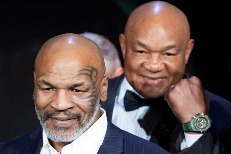 Mike Tyson and George Foreman