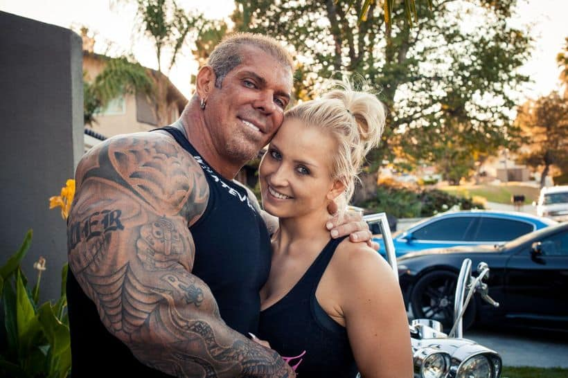 Rich Piana with his beautiful wife