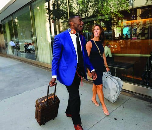 Sabatelle in New York City with Shannon Sharpe