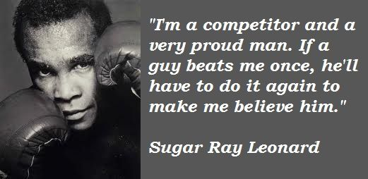 Sugar Ray Leonard quote on belief