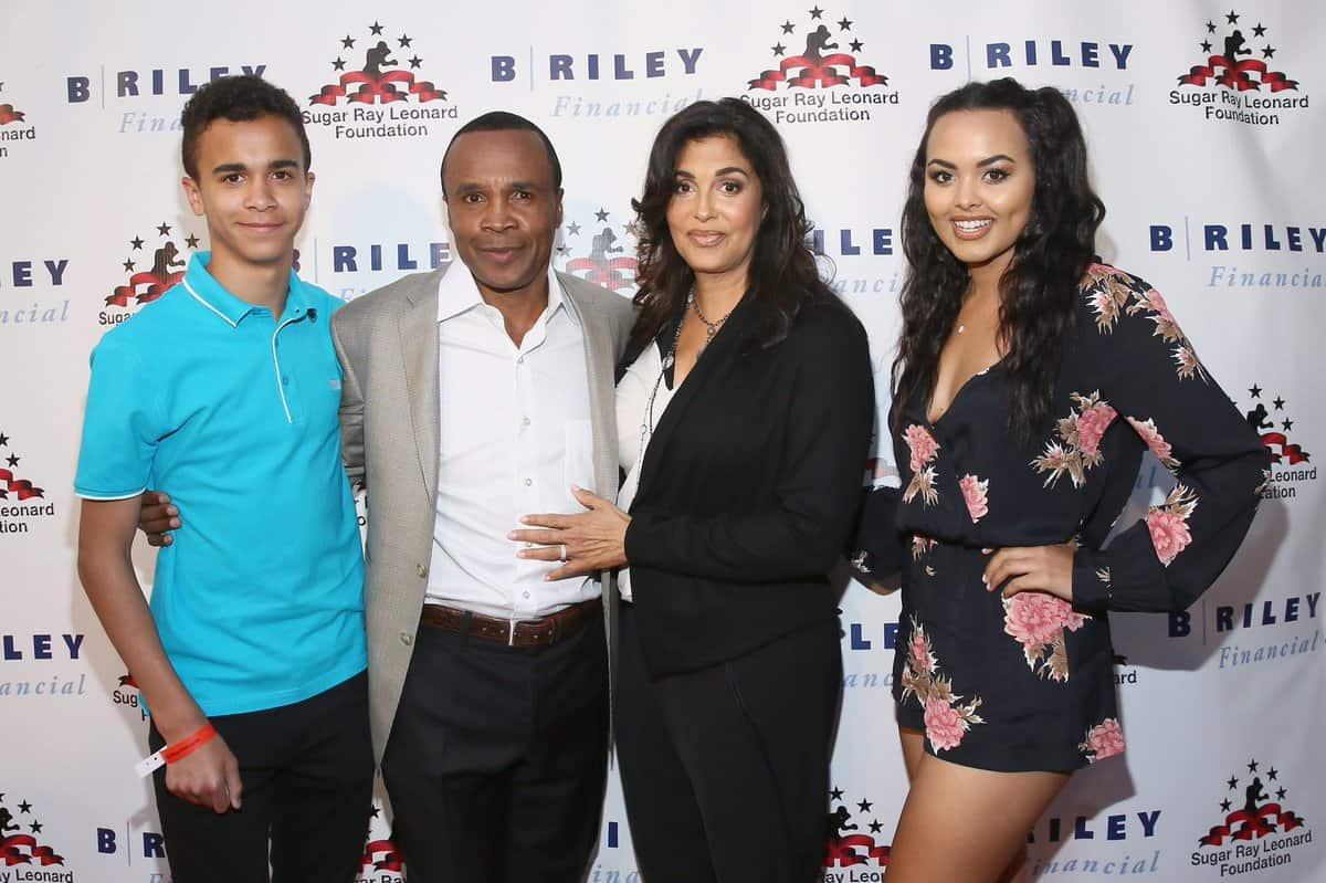Sugar Ray Leonard with his family