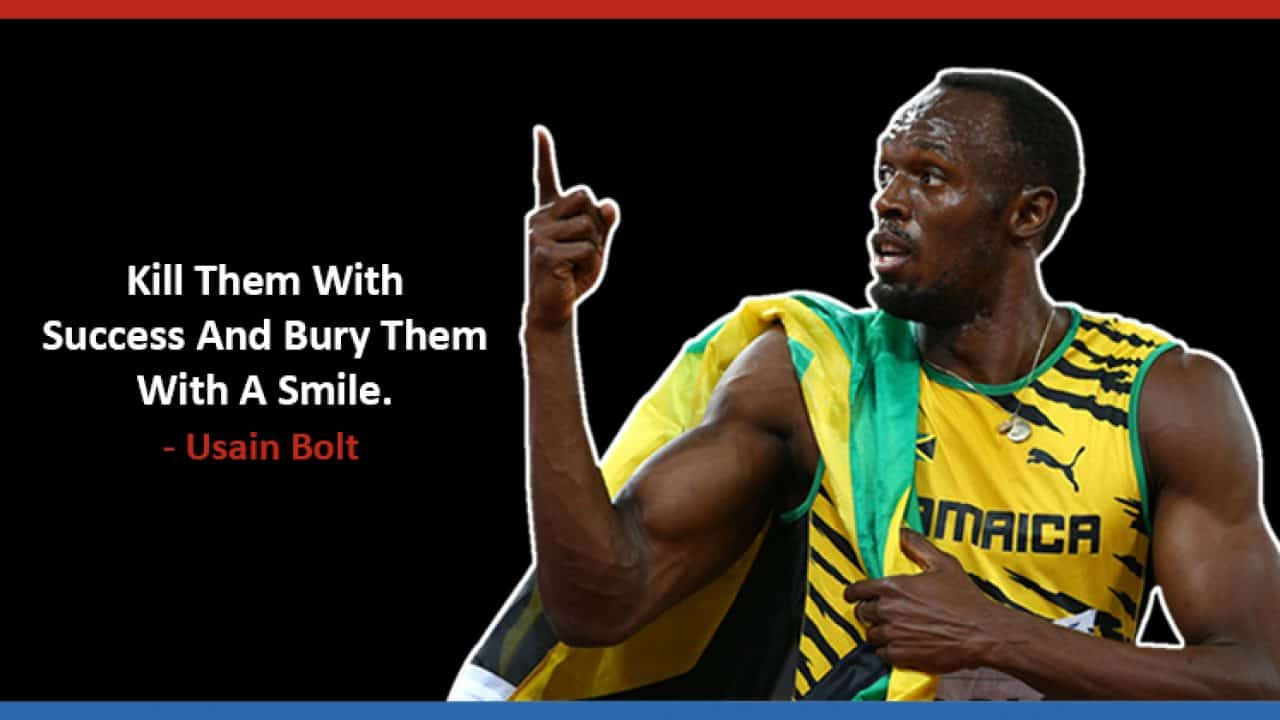 Usain Bolt quote on enemies