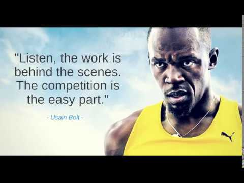 Usain Bolt quote on work and competition