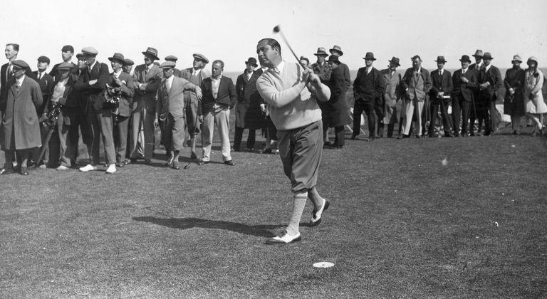 Walter Hagen on field