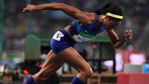 Allyson Felix during the race