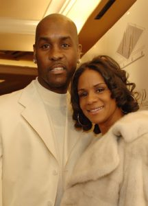 Gary Payton with his wife