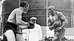 Jack Johnson inside the ring