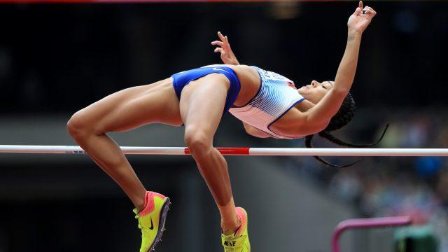 Katarina Johnson-Thompson during the competition