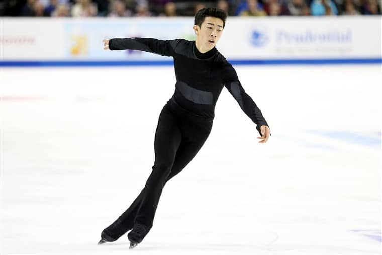 Nathan Chen on field