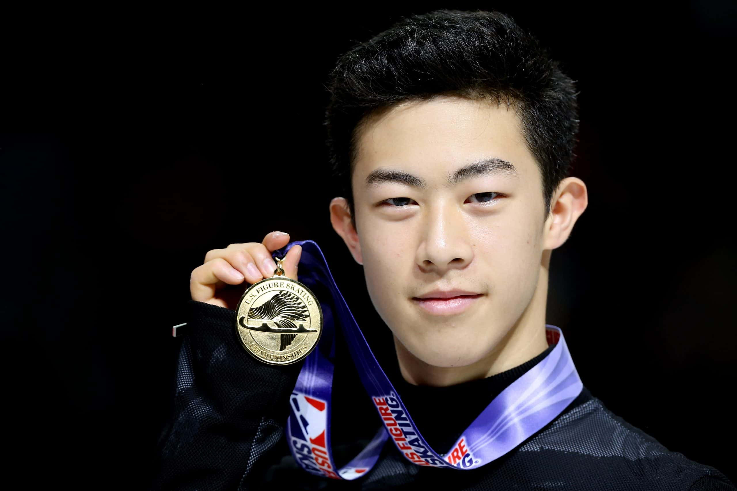 Nathan Chen with his precious award