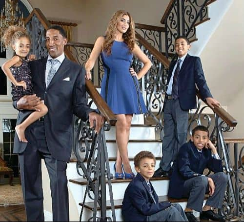 Scottie Pippen with his family