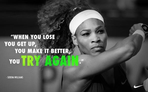 Serena Williams quote on dedication