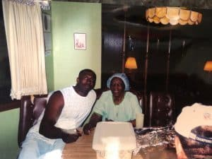 Sharpe with Grandmom