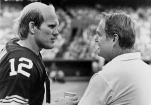 Terry Bradshaw with Chuck Noll