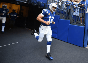 andrew luck getting ready for gam