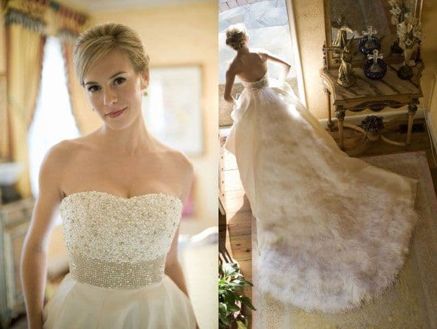 Taylor on her wedding day.