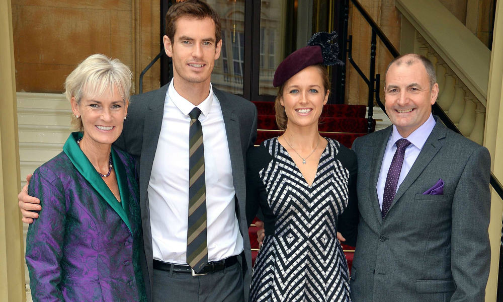 Andy Murray with his family