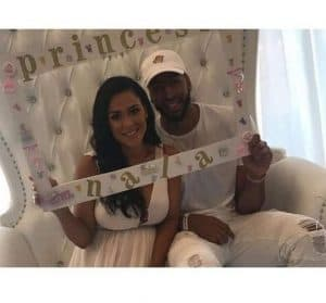 Anthony Davis with Marleen at their daughters Baby Shower