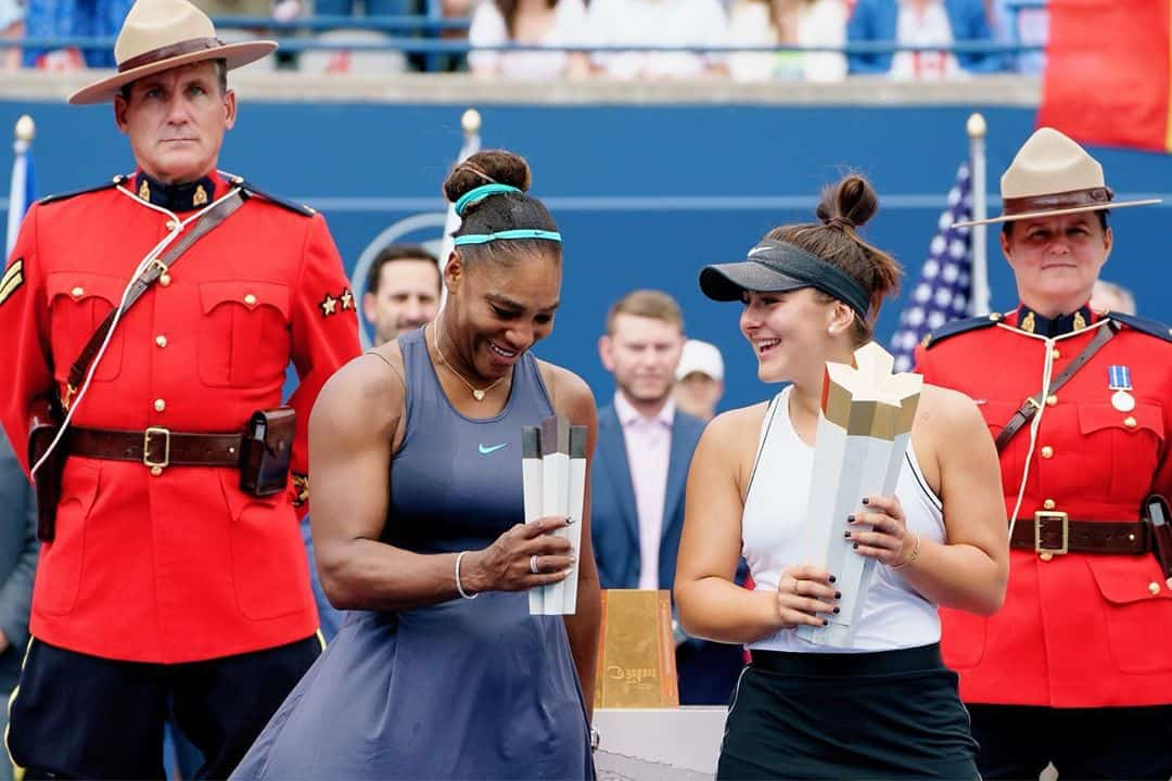 Bianca Andreescu With Serena Williams
