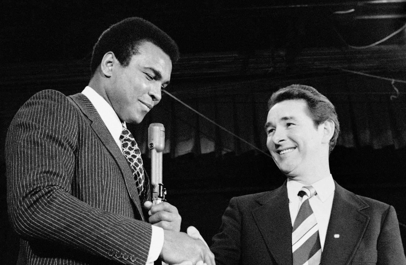 Brian Clough with Muhammad Ali