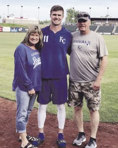 Bubba Starling with his parents
