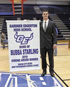 Bubba receiving Simone Award