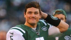 Christian Hackenberg with the New York Jets.