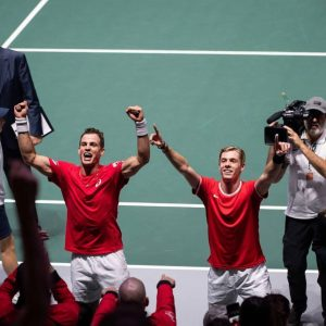Denis (right) after Reaching DavisCup Finale